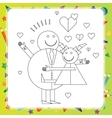 Black and White Cartoon for Coloring Book vector image vector image