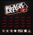 black friday sale tag builder kit typography vector image