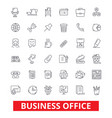 business office web interface email calendar vector image vector image