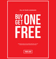 buy one get one off sign vector image vector image