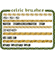 celtic ornament in a seamless vector image vector image