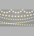 christmas lights isolated garland lamps strings vector image