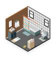 combination bathroom isometric interior vector image vector image