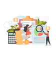 company budget planning flat style design vector image
