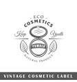 cosmetic label vector image