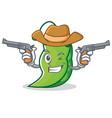 cowboy peas character cartoon style vector image vector image