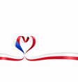 czech flag heart-shaped ribbon vector image vector image