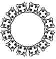 Decorative circle vector image vector image