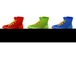 Different colors of shoes vector image vector image
