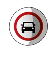 dotted sticker with road sign of car crossing vector image vector image