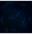 Dribble rain at night dark blue foggy sky vector image vector image