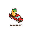 farm fruit logo vector image vector image