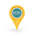 Five Star Hotel Location vector image vector image