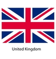 Flag of the country united kingdom vector image vector image