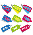 free stickers and tags vector image vector image