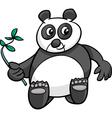 giant panda cartoon vector image vector image