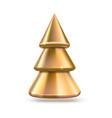 golden christmas tree metallic pine vector image vector image