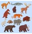 Ice Age Animals Set vector image