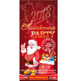 invitation flyer for a christmas party on a red vector image