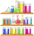 Lab equipment filled with chemical vector image vector image