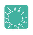label nice light sun image vector image