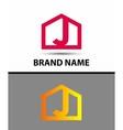 Letter j logo real estate symbol vector image vector image