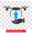 Load Drone Hand Eps Icon vector image vector image