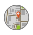 Location flat icon vector image vector image