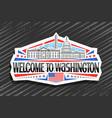 logo for washington vector image vector image
