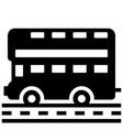 london bus solid vector image vector image