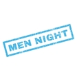 Men Night Rubber Stamp vector image vector image