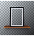 modern empty frame standing on a wooden vector image vector image