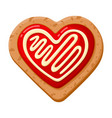 oat heart formed cookie homemade sweet pastry vector image vector image