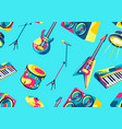pattern with musical instruments vector image vector image