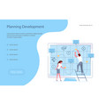 planning development of ideas concept vector image
