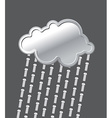 Rain of bolts Metal iron cloud Precipitation of vector image vector image