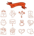 Romance theme valentine of icons vector image