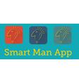 smart man application vector image vector image