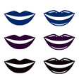 smile blue and black lips gothic extreme makeup vector image vector image