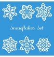 Snawflakes Set vector image