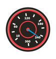 speedometer icon sport car round vector image