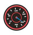 speedometer icon sport car round vector image vector image