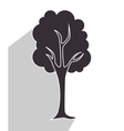 tree and nature ecology vector image