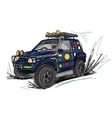 Tuned jeep sketch for your design vector image vector image