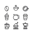 unique coffee and drink symbol or icon design vector image