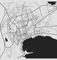 urban city map baku poster grayscale street map