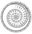 vintage spiral watch roman numerals spiral watch vector image
