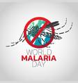world malaria day logo icon design vector image vector image
