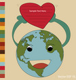 world map earth globe for valentine concept vector image