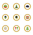 zombie icons set cartoon style vector image vector image